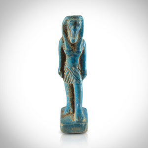 Ancient Egyptian Authentic Goddess Nekhbet Faience Tomb Statue Museum Display