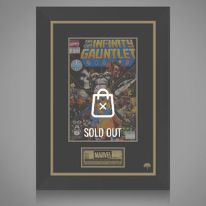 Thanos - Hand-Signed Infinity Gauntlet #1 Comic Book By Stan Lee