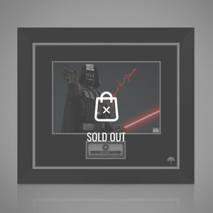 Star Wars - Hand-Signed Darth Vader Photo By James Earl Jones Custom Frame