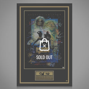 Star Wars - Hand-Signed Return Of The Jedi Poster By Cast Members Custom Frame