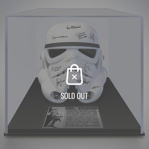 Stars Wars- Hand-Signed Stormtrooper Helmet By Cast Members In Museum Display