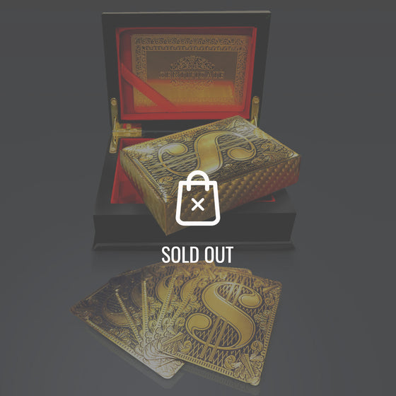 24K GOLD PLATED $$$ Patern PLAYING CARDS with Elegant Display Box