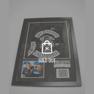 Sons of Anarchy Jax Vest and Signed Photo by Charlie Hunnam  Custom Frame