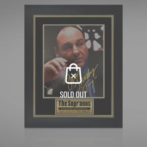 Sopranos - Hand-Signed Photo By James Gandolfini Displayed In A Rare-T Exclusive Custom Frame.