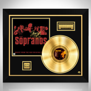 The Sopranos HBO Series Soundtrack Limited Signature Edition Studio Licensed Gold LP Custom Frame
