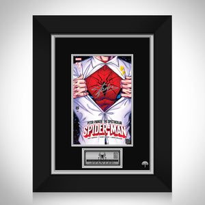 Peter Parker The Spectacular Spider-Man #1 Stan Lee Limited Signature Edition Comic Book Cover Art Custom Frame
