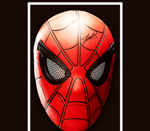 Rare-T Exclusive 'Stan Lee Signed Spiderman Mask' Custom Shadow Box