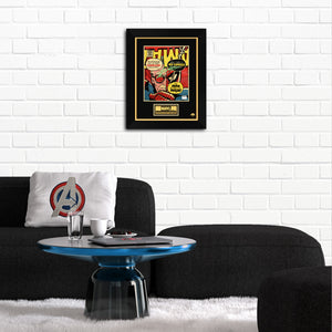 Stan Lee- 'Spider-Man' Hand-Signed Caricature Art Print by Stan Lee Custom Frame