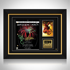 Spider-Man Movie Script Limited Signature Edition Studio Licensed Custom Frame
