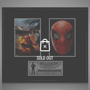 Spider-Man - Hand-Signed Mask & Photo By Stan Lee Shadow Box Display