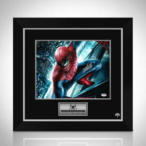 Spider-Man- 'On Building' Psa/Dna Certified Hand-Signed Photo By Stan Lee Custom Frame