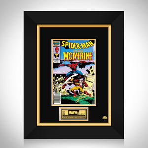 Spider-Man Versus Wolverine #1 Stan Lee Limited Signature Edition Comic Book Cover Art Custom Frame