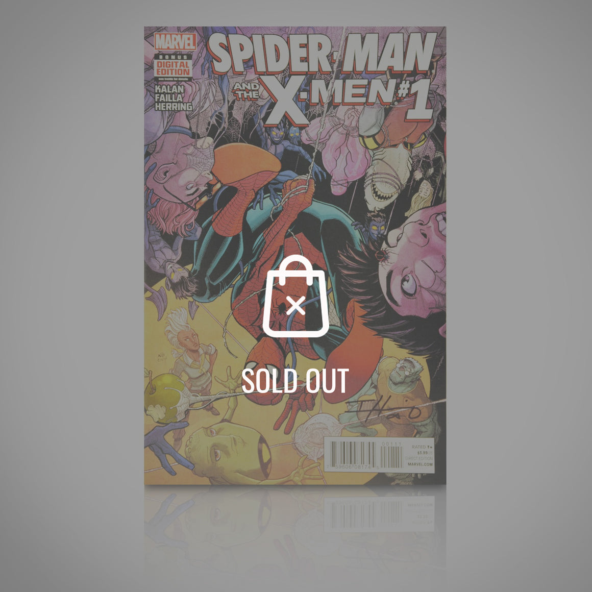 'SPIDERMAN & THE X-MEN #1 - HANDSIGNED BY IAN HERRING' Comic Book