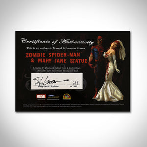 Zombie Spider-Man & Mary Jane Diamond Select Limited Edition Statue #549 Of 2500 By Rudy Gargia