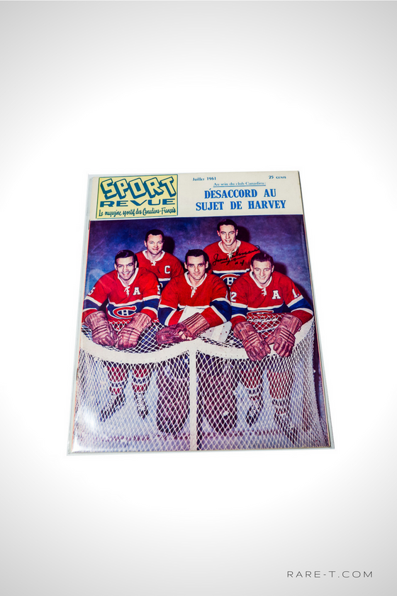 'HANDSIGNED SPORT REVUE MAGAZINE BY JEAN BELIVEAU'