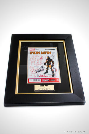 RARE-T Exclusive | #1 IRON MAN COMIC BOOK - Signed by Stan Lee Custom Frame