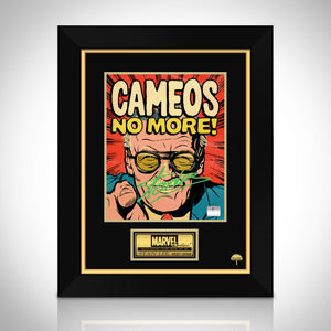 Stan Lee- 'No More Cameos' Hand-Signed Caricature Art Print by Stan Lee Custom Frame