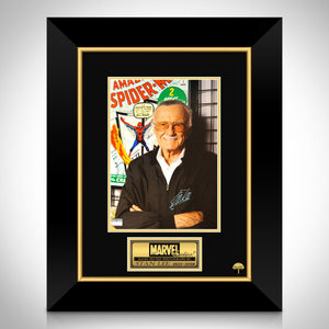 Stan Lee- Hand-Signed Spider-Man Comic Photo By Stan Lee Custom Frame