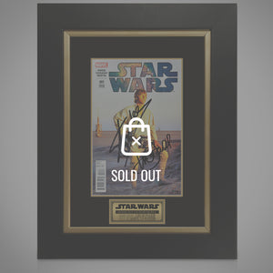 Star Wars #1 Comic Book Hand-Signed By Mark Hamill & Stan Lee Custom Frame
