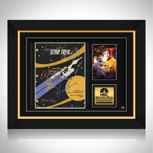 Star Trek- Psa/Dna Witness Certified Hand-Signed Mini Poster By William Shatner Custom Frame