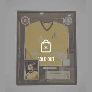 Rare-T Exclusive 'Star Trek Sweater Hand Signed By William Shatner' Custom Frame