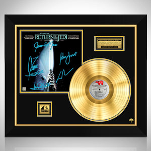 Star Wars Return of the Jedi 'Soundtrack' Limited Edition Signature Series Gold Lp Custom Frame