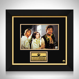 Star Wars - Hamill, Ford & Fisher Limited Signature Edition Studio Licensed Photo Custom Frame
