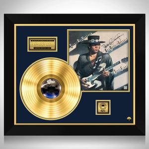 Stevie Ray Vaughan Texas Flood Gold LP Limited Signature Edition Studio Licensed Custom Frame