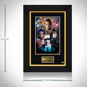 Stranger Things- Hand-Signed Artwork Print By Artist Jon Pinto Custom Frame