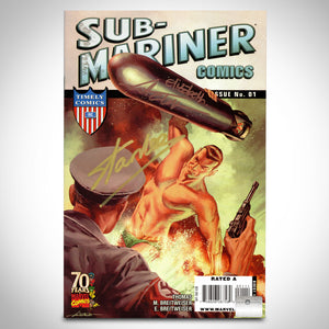 Sub-Mariner Comics 70Th Anniversary #1 Hand-Signed By Mitch Breitweiser & Stan Lee Custom Frame