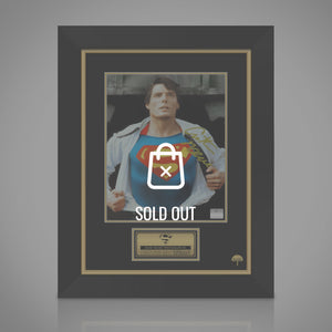 Superman Opening Shirt Hand-Signed Photo By Christopher Reeve Custom Frame