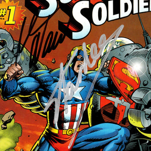 Super Soldier #1 - Hand-Signed Comic Book by Writer Mark Waid & Stan Lee Custom Frame