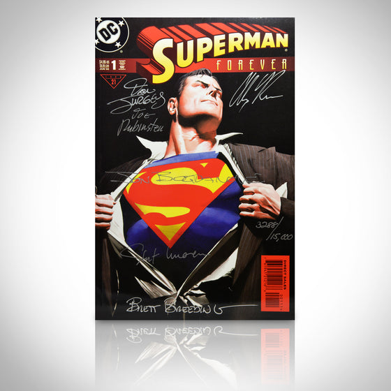 'DC SUPERMAN FOREVER #1 - HANDSIGNED BY 6' Comic Book