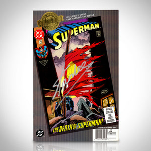 Superman- Millennium 'Death of Superman (2000) #75 Vol 2' Hand-Signed Comic By Stan Lee Custom Frame