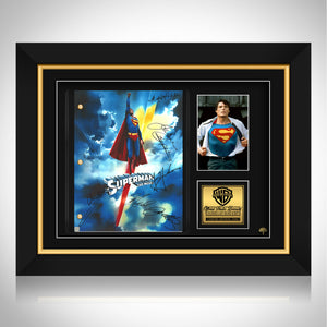 Superman - Limited Signature Edition Studio Licensed Script Custom Frame