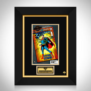 Superman- Dc Millennium Edition Superman (2000) #233 Hand-Signed Comic Book By Stan Lee Custom Frame