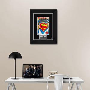 Superman Millennium Edition The Man Of Steel (2000) #1 Hand-Signed Comic By Stan Lee Custom Frame