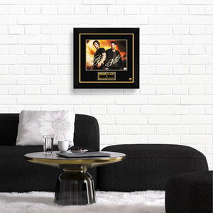 Supernatural- Hand-Signed Fire Photo By Jensen Ackles & Jared Padalecki Frame