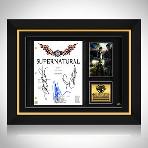 Supernatural Script Limited Signature Edition Studio Licensed Custom Frame