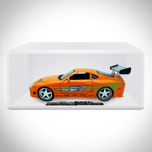 Fast & Furious Brian's 2001 Toyota Supra Orange 1:24 Die Cast Car Custom Museum Display