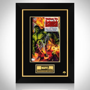 Tales To Astonish- Hulk, Wasp & Hank Pym Hand-Signed Comic Book By Stan Lee Custom Frame