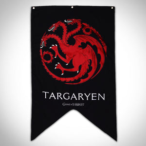 Game Of Thrones House Targaryen Banner