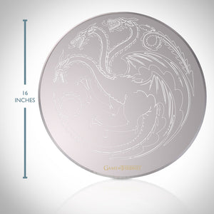 Game Of Thrones - Targaryen Dragon HBO licensed Round Etched Mirror