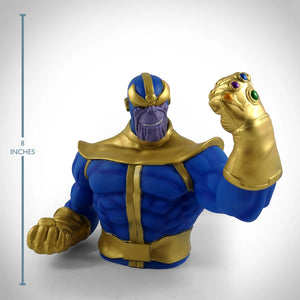 Thanos With Raised Fist Baring The Infinity Gauntlet Premium Limited Edition Bust Bank Statue