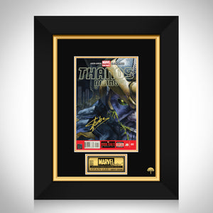 Thanos Rising #1 Stan Lee Limited Signature Edition Comic Book Cover Art Custom Frame