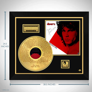 The Doors - Greatest Hits Limited Light My Fire Etched Collectors' Edition Studio Licensed Gold LP Custom Frame