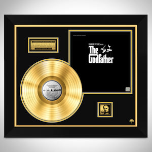 The Godfather 'Movie Soundtrack' Limited Collectors' Edition Studio Licensed Gold LP Custom Frame