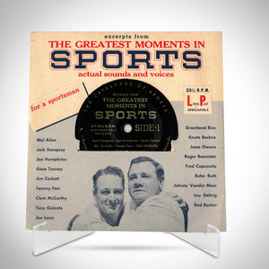 1955 'Greatest Moments In Sports' 45 Vinyl