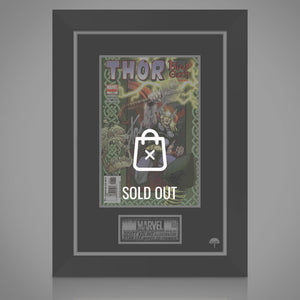 Thor Blood Oath #1 - Hand-Signed Comic Book By Scott Kolins And Stan Lee Custom Frame