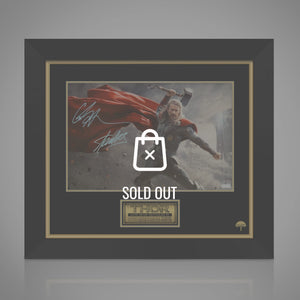Thor Cape- Hand-Signed Photo By Chris Hemsworth & Stan Lee Custom Frame
